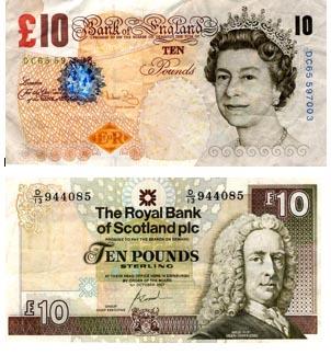 valuta scozzese